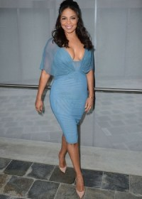 Sanaa Lathan -blue dress